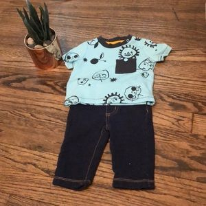 Cat and Jack sunshine T Shirt and Jeans